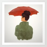 godard Art Prints featuring Umbrella by Eveline