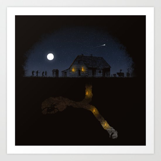 Minecraft: Always Digging Art Print