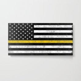 Thin Gold Line Metal Print