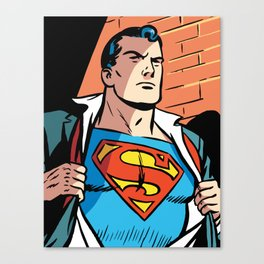 Classic Superman Canvas Print