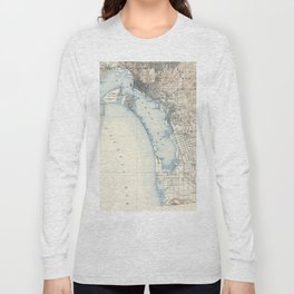 Vintage Map of San Diego California (1902) Long Sleeve T-shirt