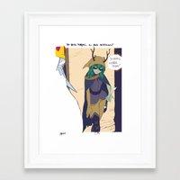 wiz khalifa Framed Art Prints featuring WIZ BIZ by reymonstruo