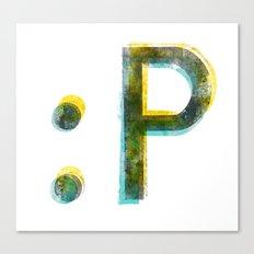 emoticon Canvas Print