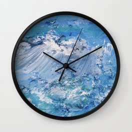 Crashing waves Wall Clock