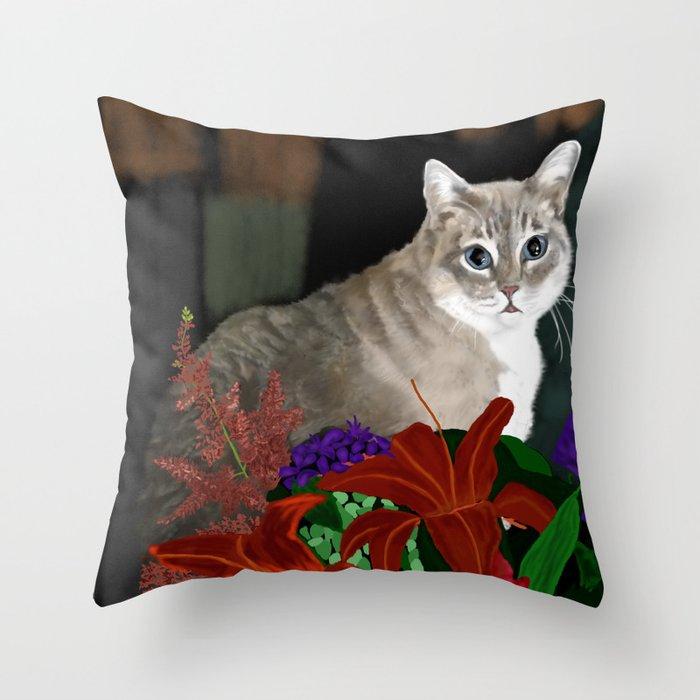 Beloved Kitty Throw Pillow