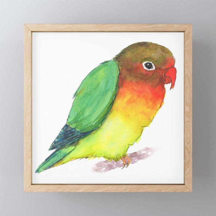 Lovebird Framed Mini Art Print