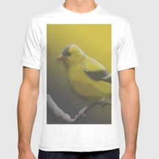 little bird Mens Fitted Tee MEDIUM White