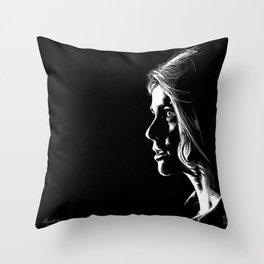Scratch portrait I Throw Pillow