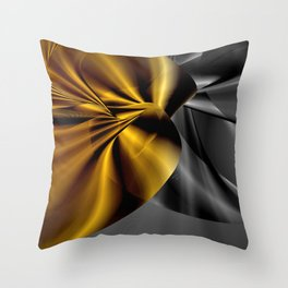The Golden Scarab Throw Pillow