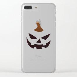 Halloween Pumpkin Smiling Face Primitive Decor Clear iPhone Case