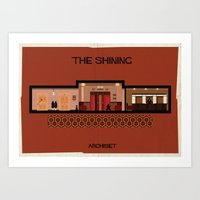 stanley kubrick Art Prints featuring The shining_ Directed by Stanley Kubrick by federico babina
