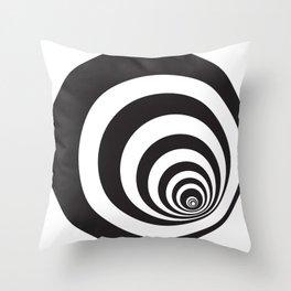 Black&White Spirally Throw Pillow