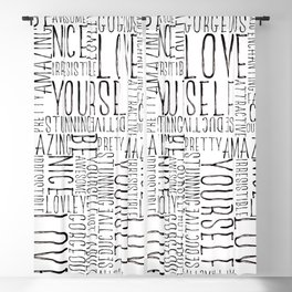 Love Yourself Blackout Curtain