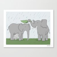 family Canvas Prints featuring Family  by Liz Climo