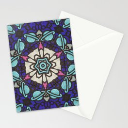 Saturn in Teal Leather - Photo of Leather, Suede and Krafttech Art Stationery Cards