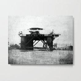 Safe Scandinavia oil rig b&w Metal Print
