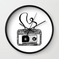 cassette Wall Clocks featuring Cassette by Virki