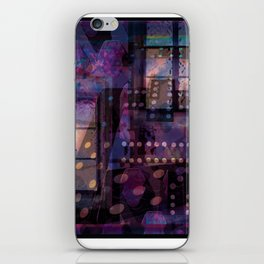 Purple Stage Props iPhone Skin