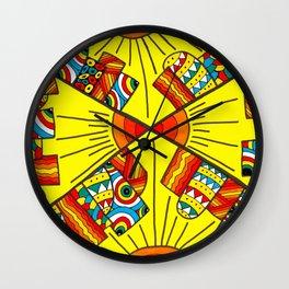 Quadruple city Wall Clock