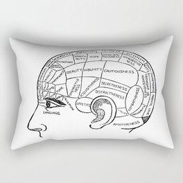 Brain Areas Rectangular Pillow
