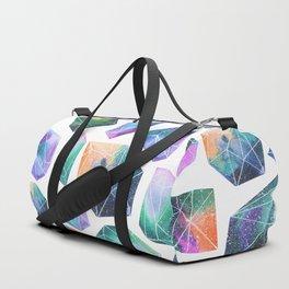 Geometric Crystals Amethyst Geode Pattern 1 Duffle Bag