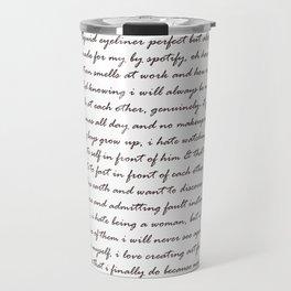 Hummus, Tats & Farts....A Real Poem by a Real Girl Travel Mug