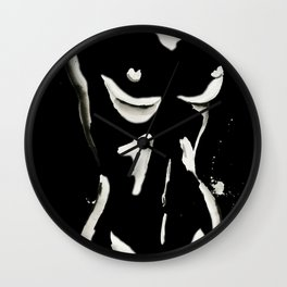 White on Black Nude No.1 Wall Clock