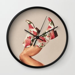 These Boots - Floral Wall Clock