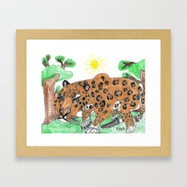 Indian Leopard Framed Art Print