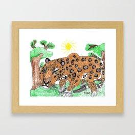 Indian Leopard Framed Art Print
