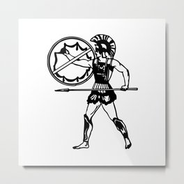 greek warrior Metal Print