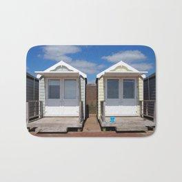 Summer Beach Huts Bath Mat