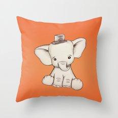 Peewee Elephant Throw Pillow