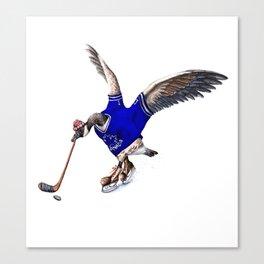 Canada Goose Playing Hockey Canvas Print