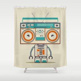 Music robot Shower Curtain