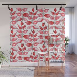 Red leaves by Gosia&Helena Wall Mural