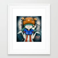 beastie boys Framed Art Prints featuring Beastie  by Murka