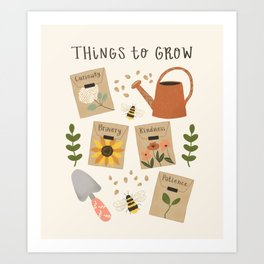 Things to Grow - Garden Seeds Art Print