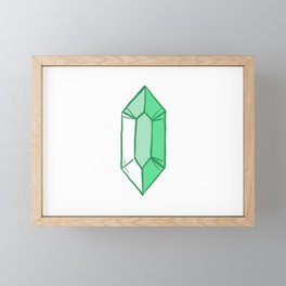 Green Crystal Framed Mini Art Print