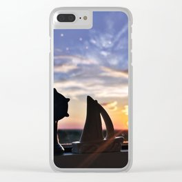 Sunset Silhouettes in Portland, Maine Clear iPhone Case