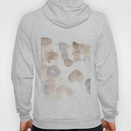 180630 Black Brown Neutral Grey Abstract Watercolour 3 | Watercolor Brush Strokes Hoody