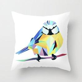 Benni Blaumeise - Benni Blue Tit Throw Pillow
