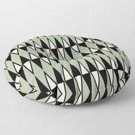 Mid Century Modern Diamond Pattern Sage Green 234 Floor Pillow