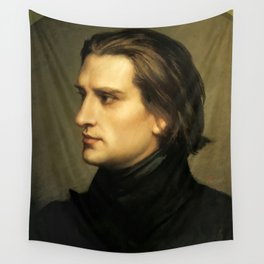 Franz Liszt (1811-1886) at 29. Painting by Charles Laurent Marechal (1801-1887). Wall Tapestry