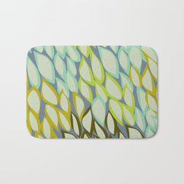 Falling into Blue Leaves Bath Mat