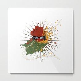 Male Dj Illustration Metal Print