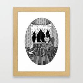 """Now, Play dead."" Framed Art Print"