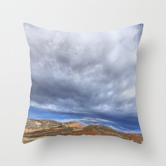 Red Mountain Open Space Throw Pillow