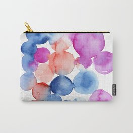 Abstract Watercolor. Blue Abstract. Blue Watercolor. Abstract Circles. Modern Art, Pink Wall Art. Mo Carry-All Pouch