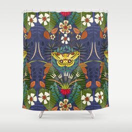 tropical moth paradise twilight Shower Curtain
